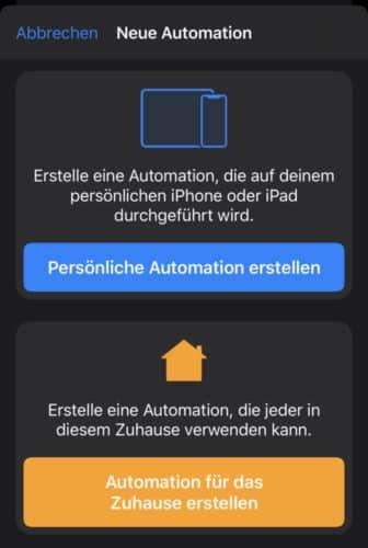 Automation erstellen