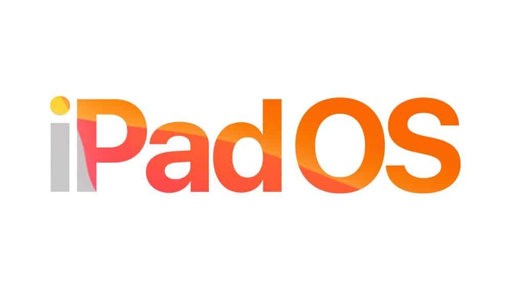 iPadOS Schriftzug