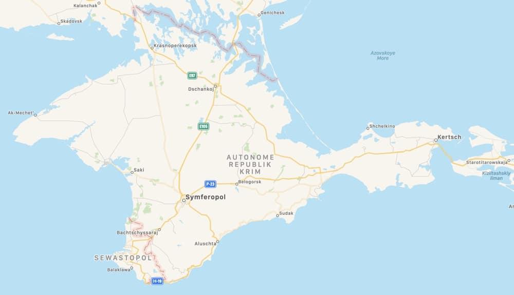 Apple Maps Krim