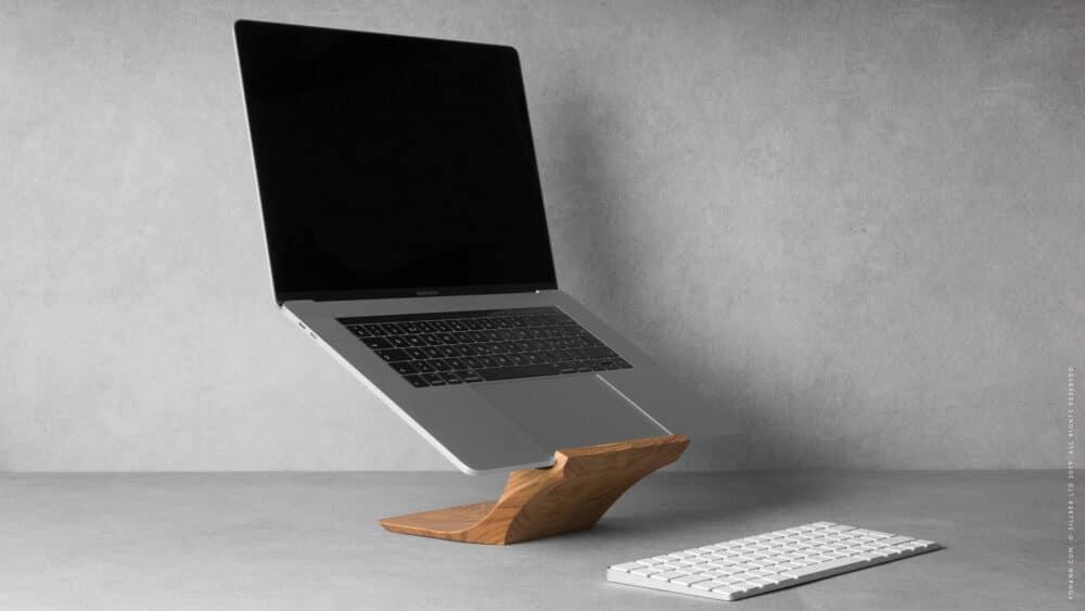 Ausprobiert: Yohann schicker Ständer fürs MacBook pro