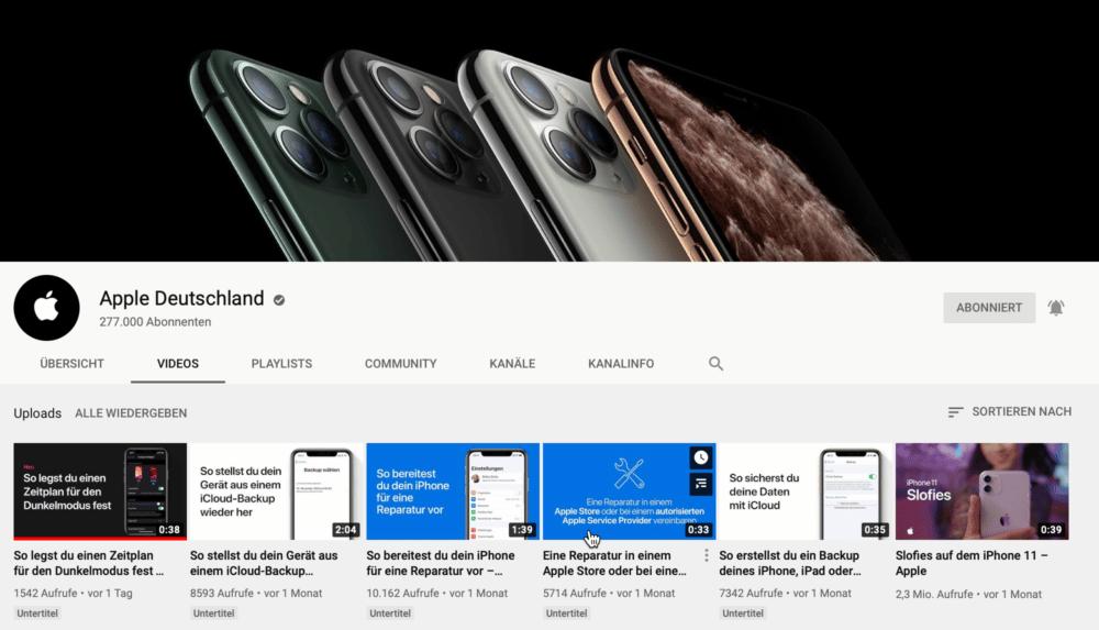 Neue Video Tutorials von Apple auf YouTube - Apfeltalk Magazin