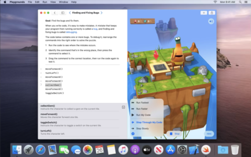 Swift Playgrounds als MacOS-App