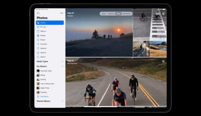 iPadOS 14 Fotos