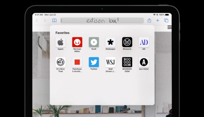 iPadOS 14 Scribble