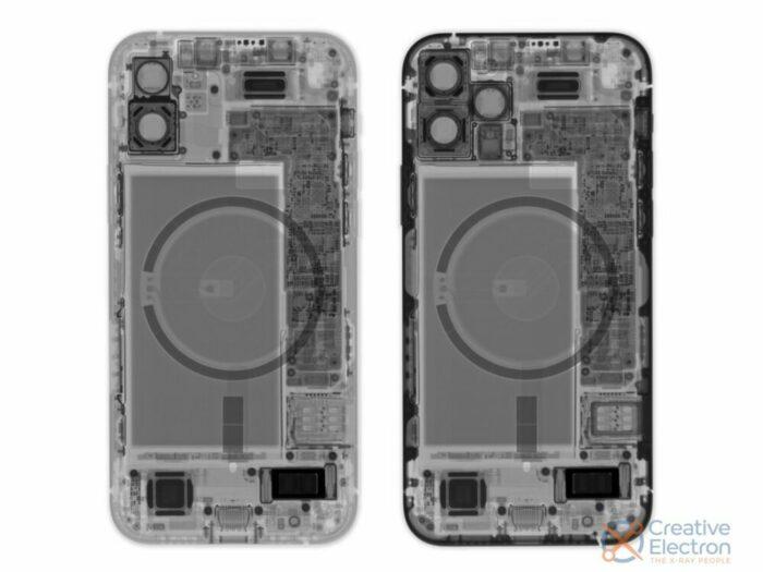 Foto: Creative Electron, iPhone 12 Röntgenaufnahme