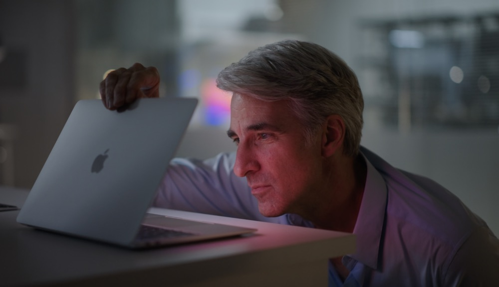 Craig Federighi MacBook Air