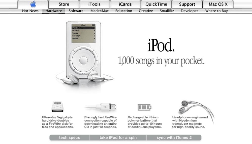 iPod - vor 20 Jahren kam der Erfolg zurück